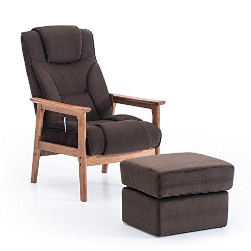 Duo  Computer Tisch Älterer Stuhl-Fester hölzerner Hauptstuhl mit Schemel-Rückenlehnen-Stuhl in 6 Farben dauerhaft (Farbe : 1003)