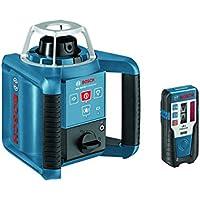 Bosch GRL 300 HV Professional - Nivelador láser (30 h, Níquel-Hidruro metálico (NiMH), 9 V, 180 mm, 190 mm, 170 mm) Azul