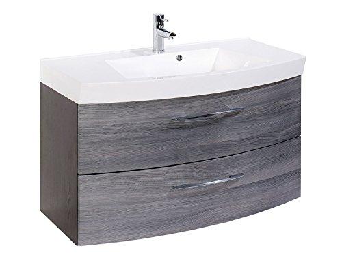 Badezimmer Komplettset Schrank Bad Waschtisch Möbel Set Spiegel ...