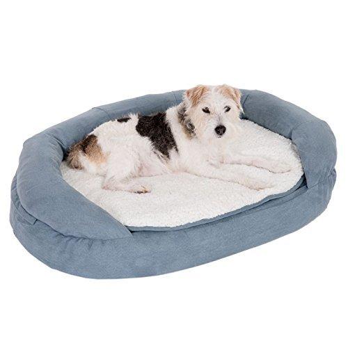 Memory Foam Dog Bed Gris de Perro Cama
