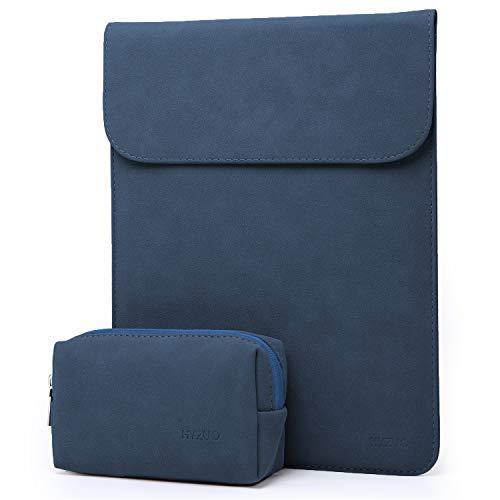 HYZUO 12 Pouces Housse Ordinateur Portable Pochette PC Protection Sacoche Compatible avec 12 Pouces MacBook Retina Display A1534 2017 2016 2015 Version avec Petit étui, Bleu Marine