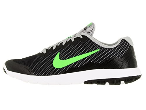 Nike Flex Experience Rn 4, Chaussures de Running Compétition Homme Black/Electric Green/Flt Slvr/White
