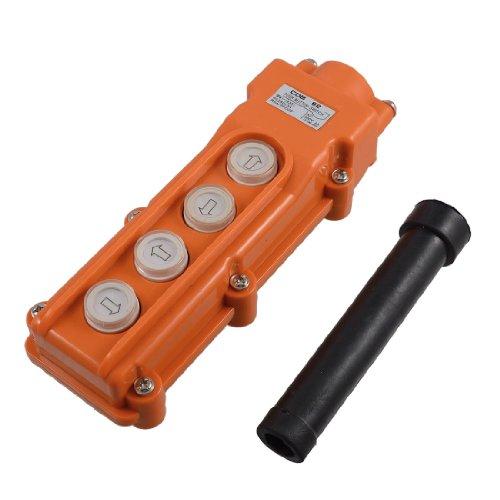 Aexit Hebemaschine Kran Druckknopf Schalter Oben Unten 4 Wege AC 250V 5A 500V 2A de (Ost-west-unten)