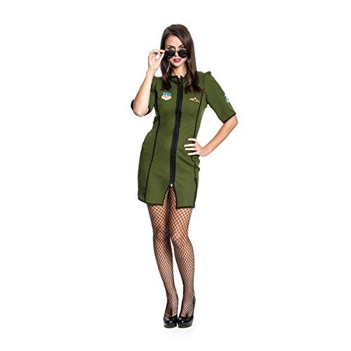 Kostümplanet® Jetpilot-Kostüm Damen sexy Militär Uniform Pilotin-Kostüm Größe 40