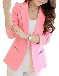 cc11ab8e690db Battercake Ouest Femme Automne Formal Veste De Costume Uni Manche Button  Casual Dame Manches Longues Coat Cardigan…