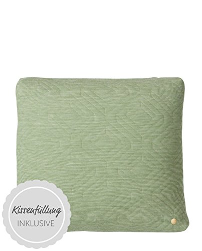 Quilt Cushion - Green - 45 x 45