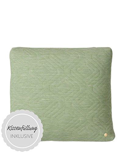 Quilt Cushion - Green - 45 x 45
