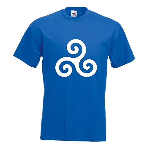 KIWISTAR - Triskele T-Shirt in 15 verschiedenen Farben - Herren Funshirt bedruckt Design Sprüche Spruch Motive Oberteil Baumwolle Print Größe S M L XL XXL Royal