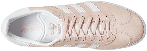 adidas Gazelle, Baskets Basses Mixte Adulte, Taille Unique Rose (Vapour Rose/White/Gold Met)
