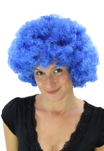 WIG ME UP ® - PW0011-PC3 Blaue Afroperücke Hair Tokyo Funk Disco