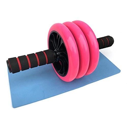 huichang AB Roller, Dreirädrige Aktualisierte Version Bauchtrainer mit Komfortgriffen Bauchmuskeltrainer mit Knieauflage