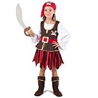 Spooktacular Creations Deluxe Pirate Girl Costume Set (M 8 - 10)
