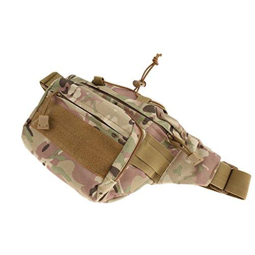 Taktisch / Militärische Hüfttasche, robust und praktisch, geeignet für Jogging, Fitness, Radfahren, Bergsteigen, Wandern usw. Outdoor Aktivitäten, Sporttasche CP Tarnfarbe