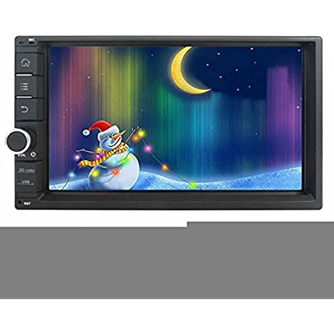 EinCar 6.2 pollici capacitivo touch stereo dell'automobile dello schermo senza DVD GPS Quad Core 16GB 2 din in Dash Navigation autoradio ricevitore Bluetooth Headunit supporto WiFi / 1080P video / USB / SD con telecamera di retromarcia senza fili