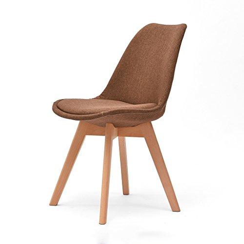 Solid wood bench sedia da ufficio in legno massello semplice e moderna sedia da pranzo per la casa sedia da ufficio in stile nordico (colore : e)