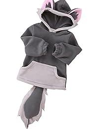 Overdose Kind-Jungen-Mädchen-Karikatur-Entwurf Fox Hoodie-Jacken-Outwear-Mäntel 0.5-3 Jahre alt