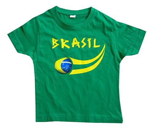 Supportershop Camiseta de Brasil Fan Camiseta, Niños, 5060360360867, Verde, 4 años