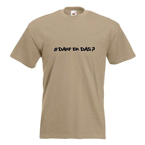 ... Herren Funshirt bedruckt Design Sprüche Spruch Motive Oberteil  Baumwolle Print Größe S M L XL XXL Khaki. KIWISTAR - Darf Er Das - Hashtag T -Shirt in 15 ...