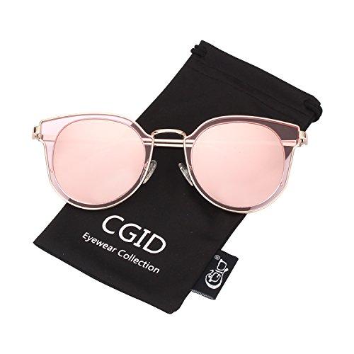 CGID MJ86 Damen Mode Doppelte Kreis UV400 Gespiegelte Objektiv Polarisierte Sonnenbrille