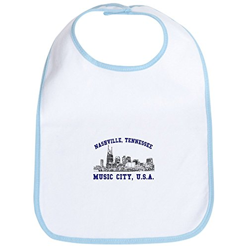 CafePress - Nashville . . . Music City US Bib - Cute Cloth Baby Bib, Toddler Bib