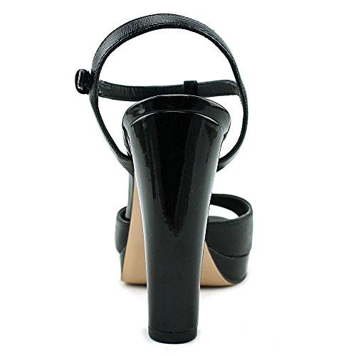 Calvin Klein Berndette liquid patent Cuir Talons Compensés Black