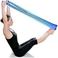 Malloom® Pilates Yoga Workout Aerobics Stretch Band Tensile Band Elastic Band (Blue)