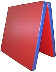 Grevinga FUN - Colchoneta plegable de gimnasia (200 x 100 x 8 cm, RG 35), varios colores Rojo y azul