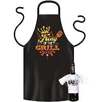 Griller Juego de delantal::: King of the Grill::: con mini de camiseta sin Botella