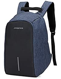 JINS&VICO zaino antifurto impermeabile per computer portatile, 15 pollici zaino per la scuola lavoro viaggiare