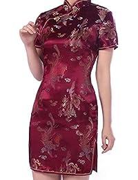 hibote Las Mujeres del Vestido de Partido Elegante de Las SeNoras de China Qipao Cheongsam Vestido