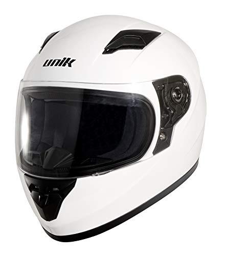 UNIK Kinder Cn-04 Kids Full Face Integral Helmet, Colour-White, Size-Small Helm, weiß, Größe ()