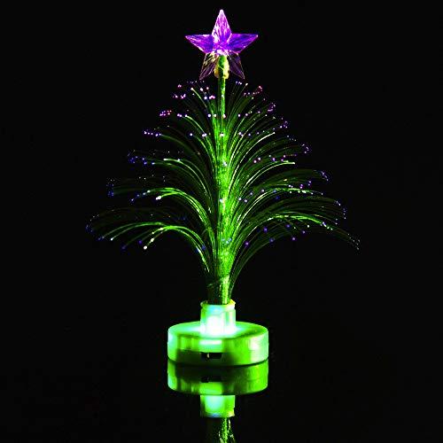 Weihnachten LED Nachtlicht Dekoration  Mode Buntes Blinkendes Frohe LED Farbwechsel Mini Weihnachtsbaum Nachtlicht Home Charme Outdoor Weihnachten Dekoration Garden Party Decor Supplies (Grün)