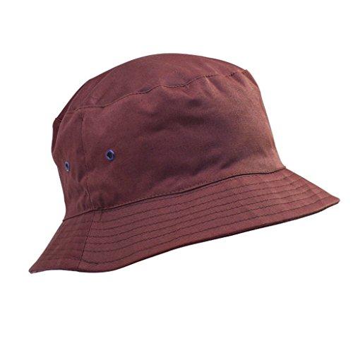 Bonnet en coton de qualité pour enfants en été - chapeaux de soleil de 5 à 11 ans, garçons et filles Rouge - Bordeaux