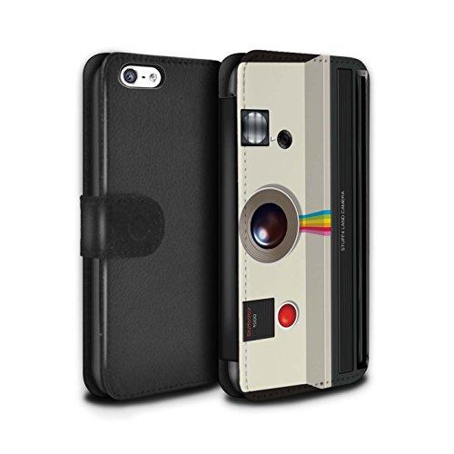 Stuff4 Coque/Etui/Housse Cuir PU Case/Cover pour Apple iPhone 6S+/Plus / Millésime Design / Appareil Photo Collection Instantanée Retro