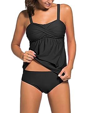 Soculer Traje de Baño Mujeres Traje de Baño Atractivo Traje de Baño de Dos Piezas Mujeres Tankini Bikinis Monokini...