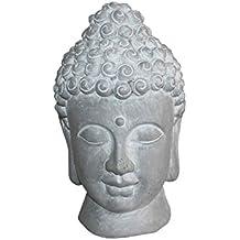 homea 5dej1315bc Estatua dibujo cabeza de Buda Magnesia blanco 20x 20x 32cm)