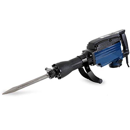 EBERTH 1600 Watt Abbruchhammer inkl. Zubehör und Metallkoffer (1800 Schläge/Min., 36 - 42 Joule, 410 mm Spitzmeißel & Flachmeißel, Zusatzhandgriff)