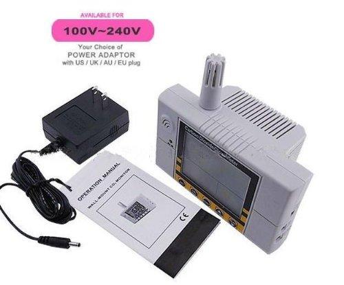 Gowe Wandhalterung Digital Kohlendioxid Monitor 0~ 2000ppm Luftqualität in Innenräumen Temperatur RH CO2Meter Sensor Controller (Quality Air Indoor Monitore)