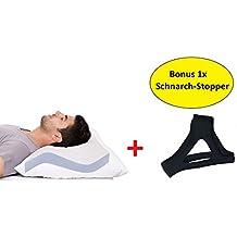 AGIA TEX Anti Schnarch Kissen + Schnarchband   Kopfkissen 40 X 80 Cm Mit