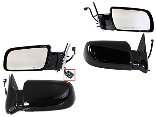 1998-2000 Cadillac Escalade Chevy/GMC Suburban C1500 C2500 K1500 K2500 Chevrolet Tahoe Yukon & Yukon Denali Power Heated Glossy Black With Heat Rear View Mirrors Pair Set Left Driver AND Right Passenger Side (1998 98 1999 99 2000 00) by Aftermarket Auto Parts