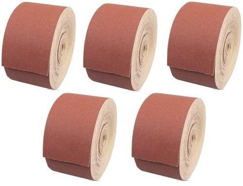 5 Rollen Schleifpapier je 50m Handschleifpapier Schleifmittel K 40 60 80 120 240
