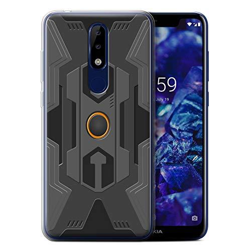 eSwish Gel TPU Hülle/Case für Nokia 5.1 Plus/X5 2018 / Roboter Muster/Rüstung Kollektion