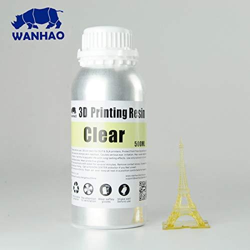 Resina WANHAO para impresora 3D, DLP UV, de Technologyoutlet, transparente, 1