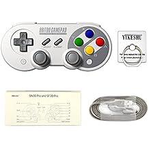 SF30Pro Gamepad, YIKESHU excelente 8Bitdo Controller Funktionen Nintendo Switch, drahtlose Bluetooth Controller klassische Nintendo Gamepad Joystick für Mac, Android und Windows-Geräte (TOY00014)