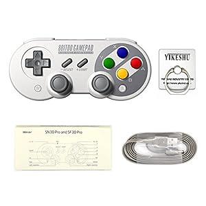 SF30Pro Gamepad, YIKESHU excelente 8Bitdo Controller Funktionen Nintendo Switch, drahtlose Bluetooth Controller Klassische Nintendo Gamepad Joystick für Mac, Android und Windows-Geräte