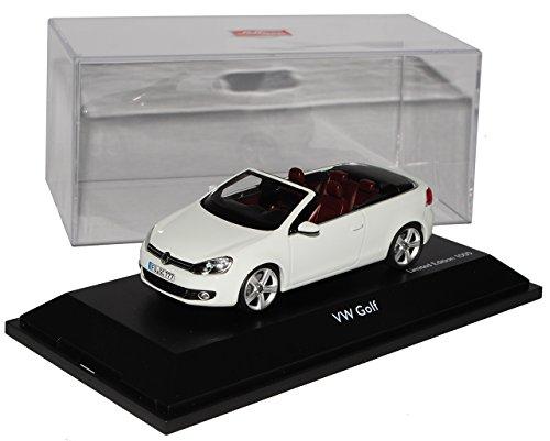 Schuco Volkwagen Golf VI 6 Cabrio Weiss Ab 2011 1/43 Modell Auto mit individiuellem Wunschkennzeichen