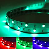 LE 5M RGB LED Strip Lights Kit, 150 SMD 5050 LED Tape, Colour Changing Mood Lighting, Dimmable, Power Supply and Remote Controller Included Bild 3