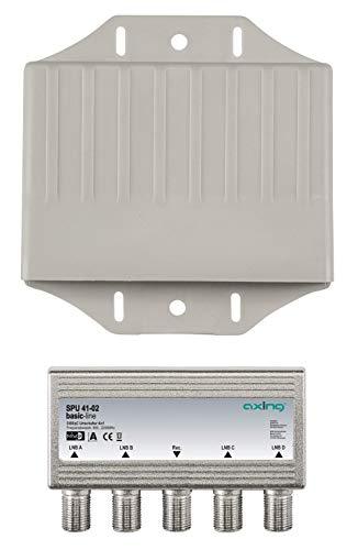 Axing SPU 41-02 Sat Umschalter 4 in 1 DiSEqC mit Wetterschutz Digital-kabel-combiner