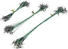 cebo de plomo - SODIAL(R)72pcs Verde atraer a la pesca de rastreo lider del alambre de trastos del eslabon giratorio del tiburon del hilandero 15/20 / 28cm72pcs Linea Verde atraer a la pesca de rastreo lider del alambre de trastos del eslabon girator