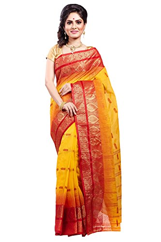 Loom&Crafts Pure Cotton Saree - Bengal Speciality Tant Sari for Personal Use...